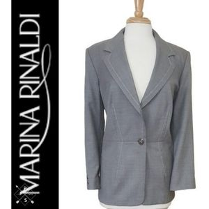 Marina Rinaldi Dove Gray Lightweight Jacket/Blazer